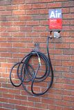 Gas Station Compressed Air Hose Stock Image