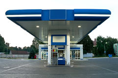 Gas station at day without car Royalty Free Stock Images