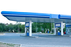 Gas station at day without car. Stock Photo