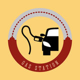 Gas Station design Royalty Free Stock Photo