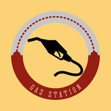 Gas Station design Royalty Free Stock Images