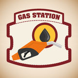 Gas Station design Royalty Free Stock Photography