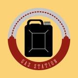 Gas Station design Royalty Free Stock Photo