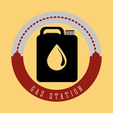 Gas Station design Royalty Free Stock Image