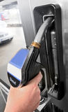 Gas station - diesel fuel Stock Photo