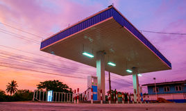 Gas station. In early morning Stock Photo