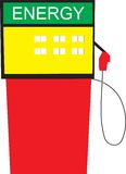 Gas station energy. Illustration of a gas station energy Royalty Free Stock Image