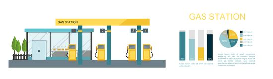 Gas station. Energy. Royalty Free Stock Photo