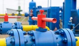Gas station equipment Stock Image