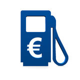 Gas station. And an Euro symbol Stock Image
