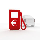 Gas station and a euro symbol Stock Photography