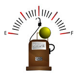 Gas station and Fuel Gauge Royalty Free Stock Photo
