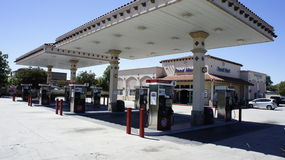 Gas Station Full View. The 76 gasoline Station in full shot view is now open to serve you Stock Image