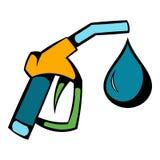 Gas station gun icon, icon cartoon. Gas station gun icon in icon in cartoon style isolated vector illustration Royalty Free Stock Photo