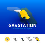 Gas station icon in different style Royalty Free Stock Photo