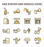 Gas station icon Stock Photography