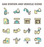 Gas station icon Royalty Free Stock Images