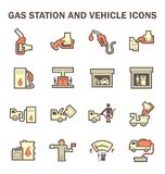 Gas station icon Stock Images
