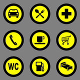 Gas station icon great for any use. Vector EPS10. Royalty Free Stock Photography