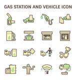 Gas station icon Royalty Free Stock Photos
