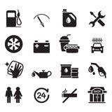 Gas station icon set Royalty Free Stock Images