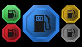 Gas station icon, sign,illustration. Gas station icon, sign,best illustration Stock Photography
