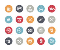 Gas Station Icons // Classics. Vector icons for your web or printing projects Stock Image