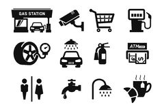 Gas station icons Stock Images