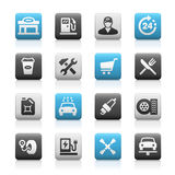 Gas Station Icons, Matte Series Royalty Free Stock Photography