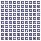100 gas station icons set grunge sapphire. 100 gas station icons set in grunge style sapphire color isolated on white background vector illustration Stock Photo