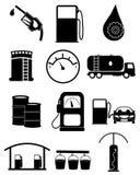 Gas station icons set stock photos