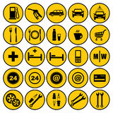Gas station icons Royalty Free Stock Photography