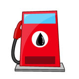 Gas station isolated illustration Stock Photography