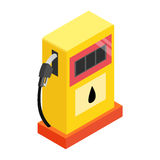 Gas station isometric 3d icon Stock Photos