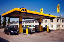 Gas station, JET Stock Photography