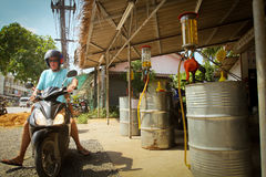 Gas station on Koh Chang island stock photo