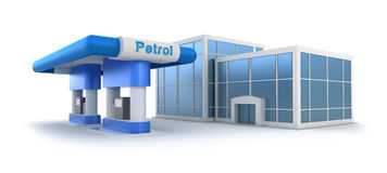 Gas station and market Stock Image