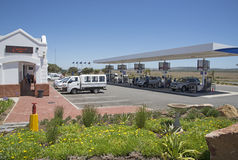 Gas station on the N2 Highway South Africa Royalty Free Stock Images