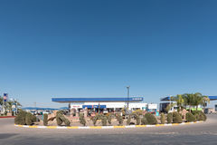Gas station next to the B1-road in Mariental Stock Photos