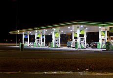 Gas station at night Royalty Free Stock Image