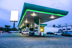 Gas station at night Royalty Free Stock Photo