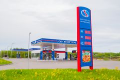 Gas station of OJSC Surgutneftegas. Surgutneftegaz is one of the largest Russian oil and gas producing companies Royalty Free Stock Photos