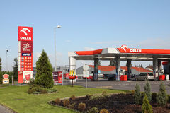 Gas station - Orlen Royalty Free Stock Images