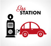 Gas station Royalty Free Stock Images