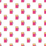 Gas station pattern, cartoon style Stock Images