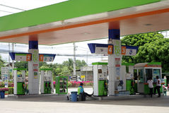 Gas station picture Stock Images