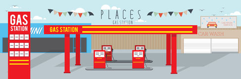 Gas Station (Places). Vector illustration of gas station vector illustration