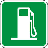 Gas station plate. Art illustration: gas station plate Stock Photos