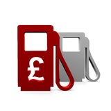 Gas station. And an pound symbol Royalty Free Stock Photography