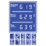 Gas station price display Royalty Free Stock Photo